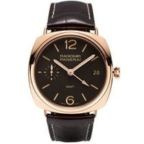 Panerai Radiomir 3 Days GMT nuevo Cuerda manual Reloj con estuche y documentos originales PAM00421