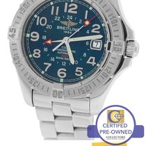 Breitling Colt GMT 40.5mm Stainless Automatic Blue Date A32350...