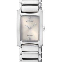 Citizen Steel 20mm Quartz EG2970-53P CITIZEN Donna L 2970 20mm Acciaio Bianco new
