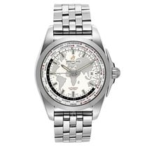 Breitling Galactic Unitime Steel 44mm No numerals United States of America, New York, New York