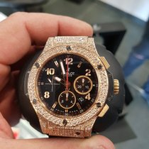 Hublot big bang or rose 44 mm diamond