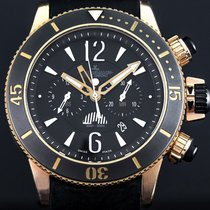 Jaeger-LeCoultre Master Compressor Diving Chronograph GMT Navy SEALs usados 46.3mm Negro Cronógrafo GMT Cuero