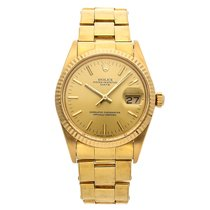 3ae9ad0dcedc ... Yellow gold 34mm Champagne No numerals. Rolex Oyster Perpetual Date  15038