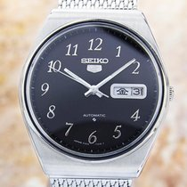 Seiko 5 Steel 37mm Black United States of America, California, Beverly Hills