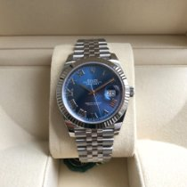 Rolex Datejust Otel 41mm Albastru Fara cifre