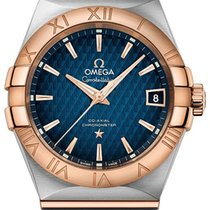 Omega 123.20.38.21.03.001 Or/Acier 2020 Constellation Men 38mm nouveau