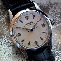 Rolex Oyster Perpetual Stahl 33.5mm Champagnerfarben