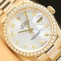 Rolex Datejust Gelbgold 36mm Silber