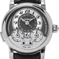 Montblanc White gold Manual winding 43mm pre-owned Nicolas Rieussec