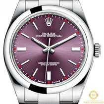 Rolex Oyster Perpetual 39 Steel 39mm Red No numerals United States of America, New York, New York