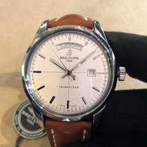 Breitling Transocean Day & Date Steel 43mm White No numerals