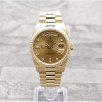 Rolex Oyster Perpetual Day-Date Factory Champagne Diamond Dial