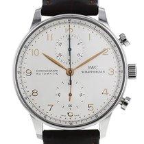 IWC Portuguese-Chronograph en acier Ref : 3714 Vers 2000