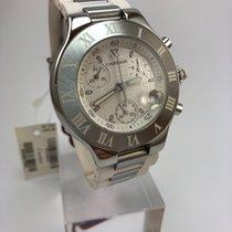 Cartier 21 Chronoscaph Acero 38mm Blanco