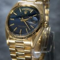 Rolex Day-Date 18K Gold President Tritium Blue Dial -  18038