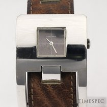 Longines Silver Manual winding Black No numerals 34mm pre-owned