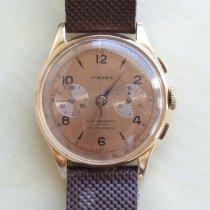 Chronographe Suisse Cie Roségold Handaufzug Braun 37,5mm gebraucht