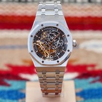 Audemars Piguet Royal Oak Double Balance Wheel Openworked Stahl 41mm Transparent Keine Ziffern Schweiz, Genève et Paris