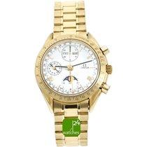 Omega Speedmaster Professional Moonwatch Moonphase gebraucht 38mm Weiß Mondphase Chronograph Monatsanzeige Jahreskalender Tachymeter Gelbgold