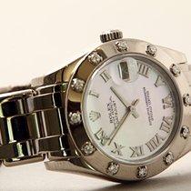 Rolex Lady-Datejust Pearlmaster Fehérarany 32mm Gyöngyház Római