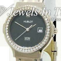 Hublot White gold Quartz Black 28mm pre-owned