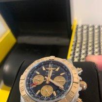 Breitling Chronomat 44 GMT Goud/Staal 44mm Zwart Geen cijfers