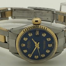 Rolex Oyster Perpetual Date Just 26mm gold and steel diamond