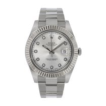 Rolex Datejust II pre-owned 41mm Silver Steel