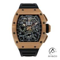Richard Mille RM 011 Złoto różowe 49.94mm Przezroczysty Arabskie