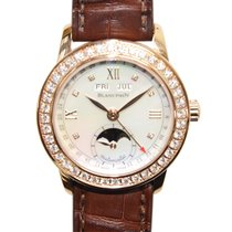 Blancpain Leman 18 K Rose Gold With Diamonds White Automatic...