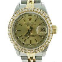 Rolex Lady-Datejust Two Tone 18K/S.S Diamond Bezel 69173