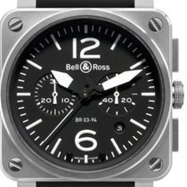 Bell & Ross Steel Automatic Black new BR 03-94 Chronographe