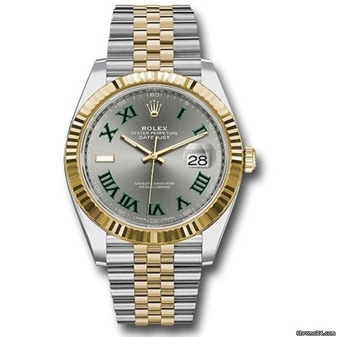 Rolex Datejust 41mm Steel \u0026 Yellow Gold Fluted Bezel , Jubilee
