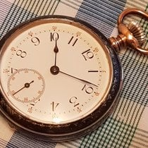 Longines antique niello case pocket watch from 1890