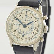 Wittnauer Chronograph 32,5mm Handaufzug 1945 gebraucht Silber