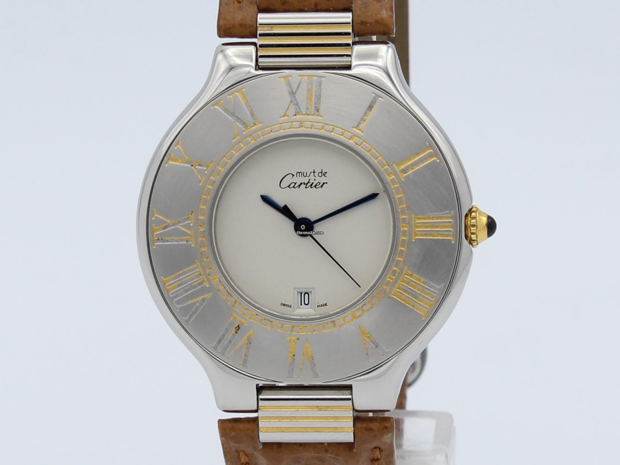 aaee5f0d0867 Cartier 21 Must de Cartier Quartz Steel Lady 126 000 P for  693 for sale  from a Trusted Seller on Chrono24
