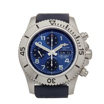 Breitling Steel Automatic Blue Arabic numerals 44mm pre-owned Superocean Chronograph Steelfish