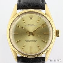 Rolex Oyster Perpetual 34 Oro amarillo 34mm Champán Sin cifras