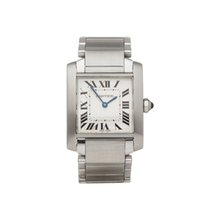 Cartier Tank Française Steel 25mm White Roman numerals United Kingdom, Bishop's Stortford