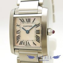 Cartier Tank Française pre-owned 20mm Pink