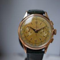 エベラール Eberhard chronographe vintage or/acier 非常に良い ゴールド/スチール 39mm 手動巻き