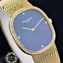 Patek Philippe Or jaune Remontage manuel Bleu 35mm occasion Golden Ellipse