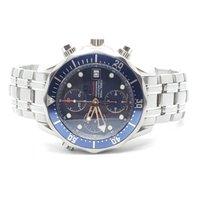 Omega Seamaster Diver 300 M подержанные 41.5mm Синий Хронограф Дата Сталь