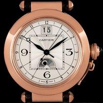 Cartier Oro rosa Automático Plata Arábigos 42mm usados Pasha
