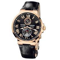 Ulysse Nardin Marine Chronometer 43mm Pозовое золото 43mm Чёрный Римские Россия, Москва