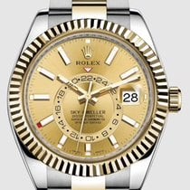 Rolex Sky-Dweller Gold/Steel 42mm Champagne No numerals United States of America, New Jersey, Totowa