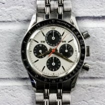 Universal Genève Compax pre-owned 36mm White Steel