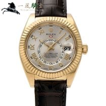 Rolex Sky-Dweller Sarı altın 42mm Gümüş