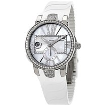 Ulysse Nardin Executive Dual Time Lady Steel 40mm Mother of pearl Roman numerals United States of America, New Jersey, Princeton