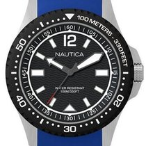 Nautica Steel 44mm Quartz NAPMAU002 new
